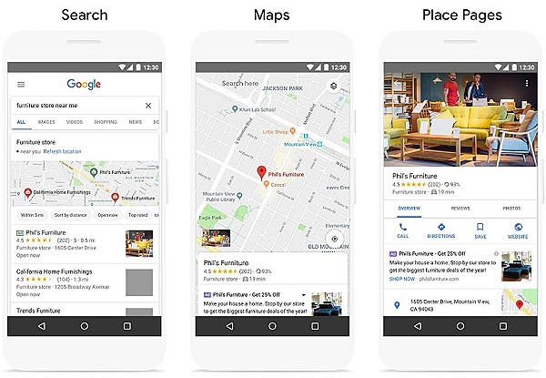examples of Google Locqal campaigns